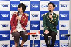 左から寺島惇太、岩井勇気(ハライチ)。