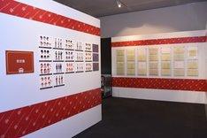 「プリズムスタァミュージアム」内資料展示エリアの様子。