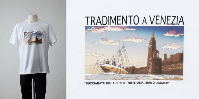 「『ジョジョの奇妙な冒険黄金の風』ヴェネツィアでの裏切り コラボTシャツ」