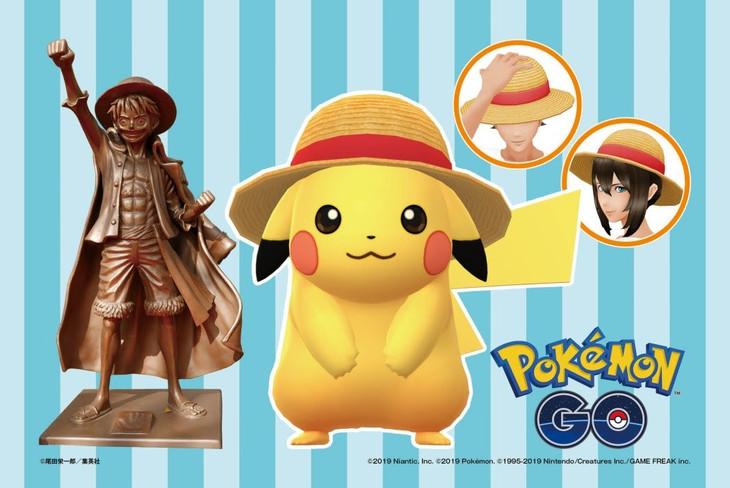 「ONE PIECE」と「Pokemon GO」のコラボビジュアル。