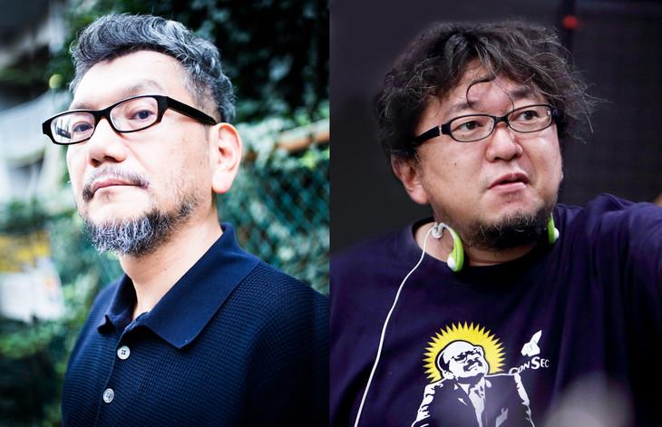 庵野秀明(左)、樋口真嗣(右)。