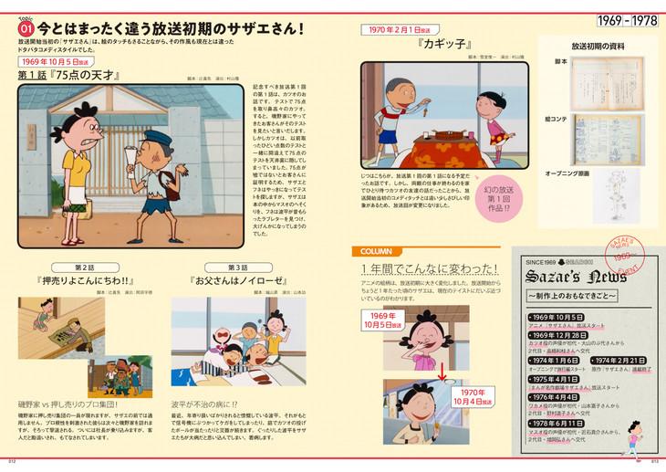 「アニメ『サザエさん』放送50周年記念ブック サザエさんヒストリーブック1969-2019」より。