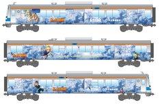 伊豆箱根鉄道の「Dr.STONE」ラッピング電車。
