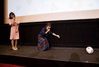 TVアニメ「放課後さいころ倶楽部」先行上映会の様子。