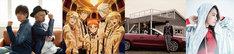 「アニメJAM2019」出演アーティスト一覧。左からpugcat's、ハイネ・カイ・ブルーノ・レオンハルトfrom P4 with T、OxT、Beverly。