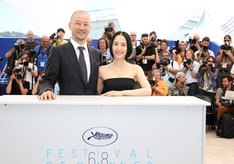 第68回カンヌ国際映画祭の様子。左から浅野忠信、深津絵里。(撮影:Kazuko Wakayama)