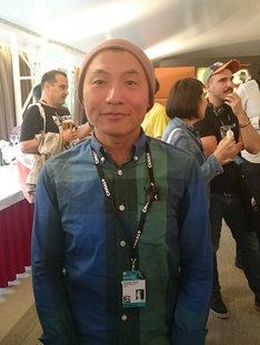 アヌシー国際アニメーション映画祭に参加した湯浅政明。(撮影 / 土居伸彰)