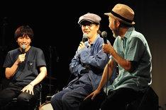 トークの様子。左から森優作、リリー・フランキー、塚本晋也。(c)渡邉俊夫