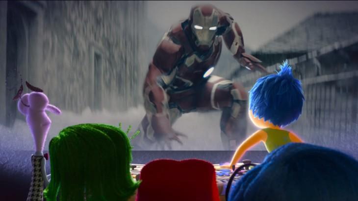 「インサイド・ヘッド」「「アベンジャーズ/エイジ・オブ・ウルトロン」マッシュアップ映像のワンシーン。 (c)2015 Disney/Pixar. All Rights Reserved. (c)Marvel 2015