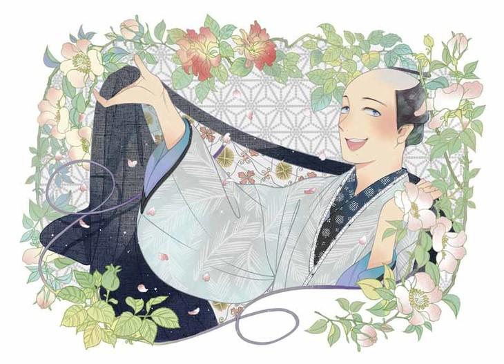紗久楽さわが手がけたマンガ版「まんまこと」のイラスト。