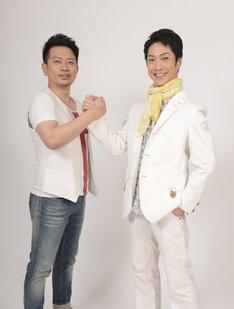 左から宮迫博之(雨上がり決死隊)、野村萬斎。(c)2016「スキャナー」製作委員会