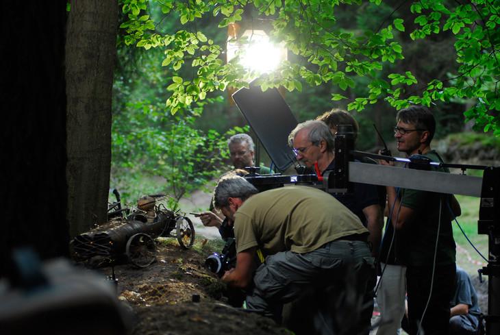 「クーキー」の撮影風景。(c)2010 Biograf Jan Svêrák, Phoenix Film investments, Ceská televize a RWE.