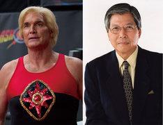 「テッド2」より左からサム・J・ジョーンズ、声優の羽佐間道夫。(c)Universal Pictures