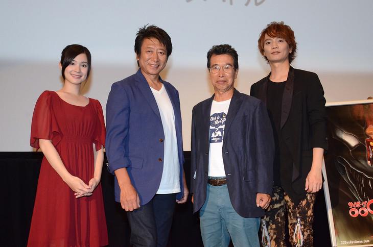イベントの様子。左からM・A・O、井上和彦、田中亮一、浅沼晋太郎。