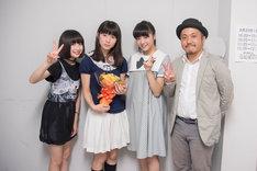 左から吉田凜音、蒼波純、中山莉子、白石和彌。
