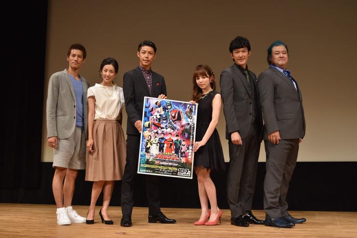 Vシネマ「特捜戦隊デカレンジャー 10 YEARS AFTER」完成披露上映会の様子。
