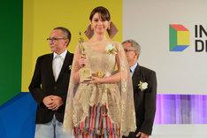 主演作「娘のしあわせ」が海外作品特別賞に輝いたユキ・カトウ。