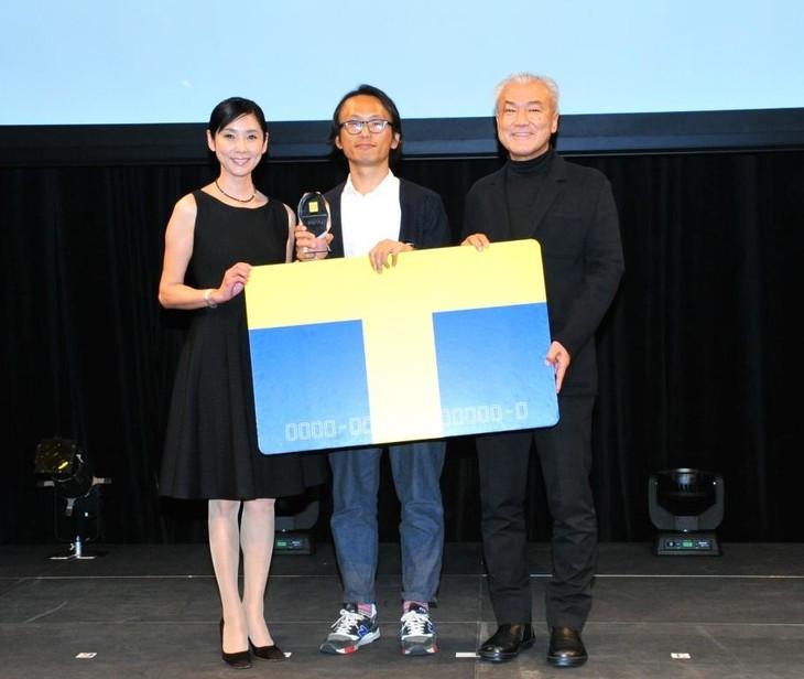 「TSUTAYA CREATORS' PROGRAM FILM2015」最終審査会の様子。左から黒木瞳、中江和仁、カルチュア・コンビニエンス・クラブの増田宗昭代表取締役社長兼CEO。