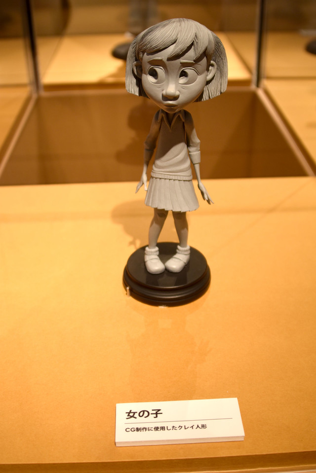「リトルプリンス 星の王子さまと私 展」にて、CG制作用に作られた女の子のクレイ人形。