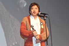 最優秀作品賞を受賞した「海街diary」監督の是枝裕和。