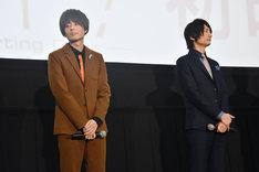 左から、桐嶋郁弥役の内山昂輝、七瀬遙役の島崎信長。