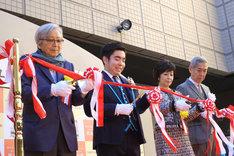 葛飾柴又寅さん記念館リニューアルオープンセレモニーの様子。