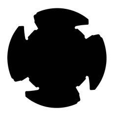 Vシネマ「帰ってきた手裏剣戦隊ニンニンジャー ニンニンガールズ VS ボーイズ FINAL WARS」初回生産限定版に付属する忍シュリケンのイメージ。