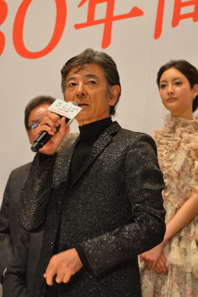 ファンへ何度も感謝の言葉を述べた柴田恭兵。