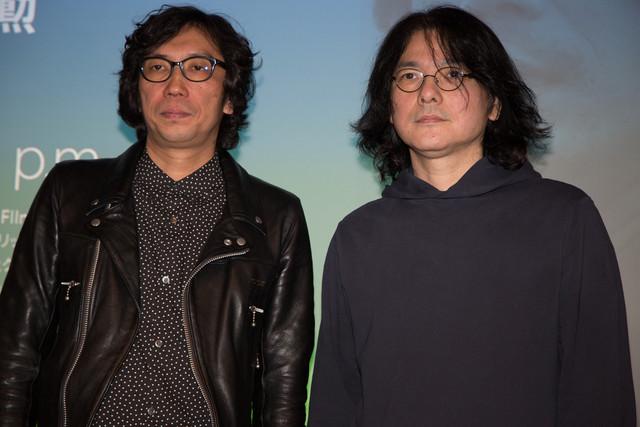 2月11日に行われたトークショーに登壇した行定勲(左)と岩井俊二(右)。