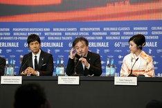 第66回ベルリン国際映画祭より、記者会見の様子。