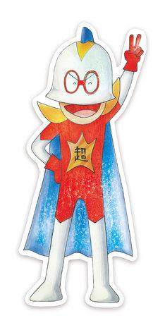 「バクマン。」豪華版Blu-ray / DVD特典の「超ヒーロー伝説バックマン」ステッカー。