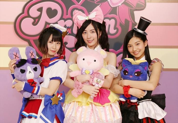 左から高柳明音、松井珠理奈、後藤楽々。(c)T-ARTS / syn Sophia / 映画プリパラ製作委員会