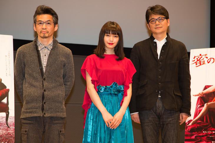 「蜜のあわれ」トークイベントの様子。左から石井岳龍、二階堂ふみ、穂村弘。