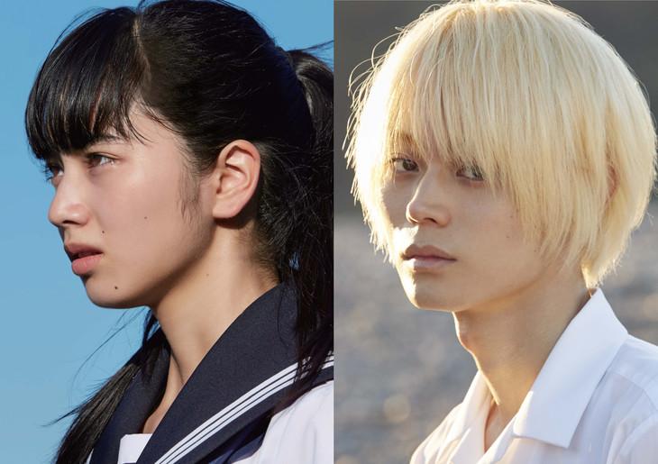 左から望月夏芽役の小松菜奈と、長谷川航一朗役の菅田将暉。(c)2016「溺れるナイフ」製作委員会
