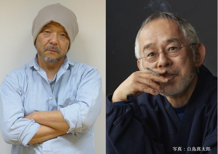 押井守(左)、鈴木敏夫(右)。