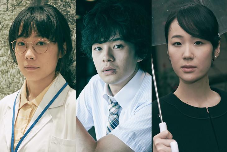 「永い言い訳」への出演が発表された俳優たち。左から山田真歩、池松壮亮、黒木華。