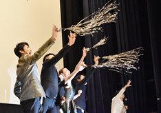 「スキャナー 記憶のカケラをよむ男」完成披露舞台挨拶の様子。