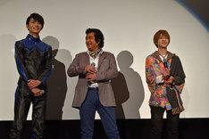 仮面ライダー生誕45周年記念&「仮面ライダー1号」大ヒット御礼イベントの舞台挨拶の様子。
