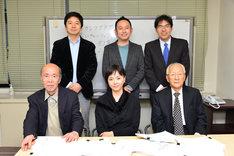松田優作賞の審査員たち。前列左から丸山昇一、松田美由紀、黒澤満。後列左から佐藤現、足立紳、大橋広宣。