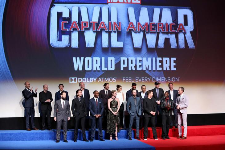 「シビル・ウォー/キャプテン・アメリカ」USプレミアの様子。