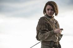 「ゲーム・オブ・スローンズ 第六章:冬の狂風」よりアリア役のメイジー・ウィリアムズ。