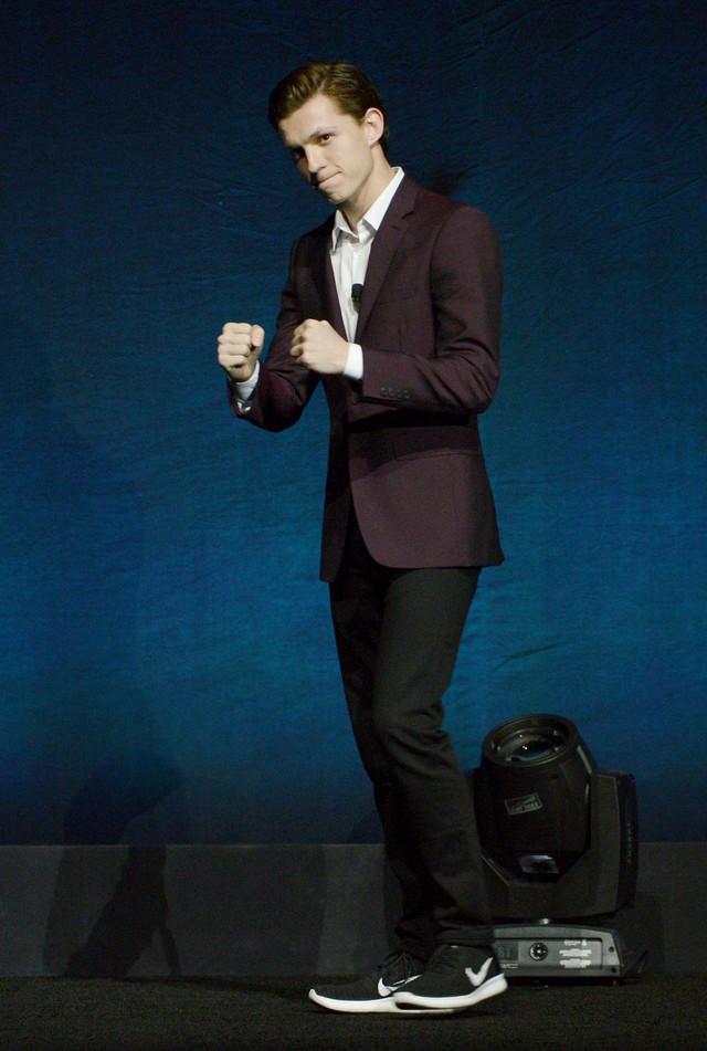 「スパイダーマン ホームカミング」でピーター・パーカー / スパイダーマンを演じるトム・ホランド。