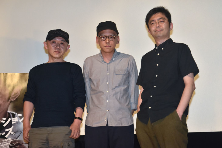 (左から)新井英樹、真利子哲也、向井秀徳。