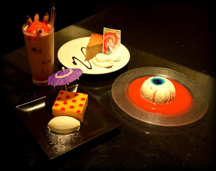 「少女椿」カフェのオリジナルメニュー。