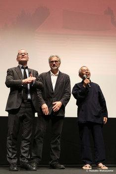 第69回カンヌ国際映画祭での「レッドタートル ある島の物語」舞台挨拶の様子。