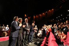 第69回カンヌ国際映画祭での「レッドタートル ある島の物語」公式上映の様子。
