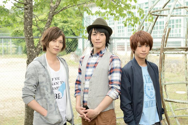 「天秤をゆらす。」に出演する染谷俊之(左)、廣瀬智紀(中央)、赤澤燈(右)。(c)2016「天秤」製作委員会