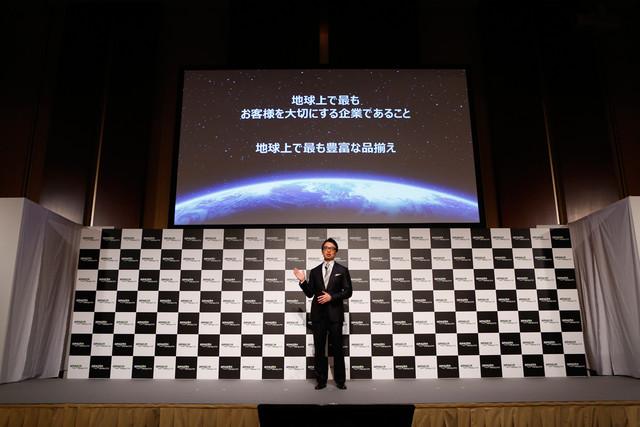 Amazonプライム・ビデオ日本オリジナル作品記者発表会より、アマゾンジャパン合同会社社長のジャスパー・チャン。