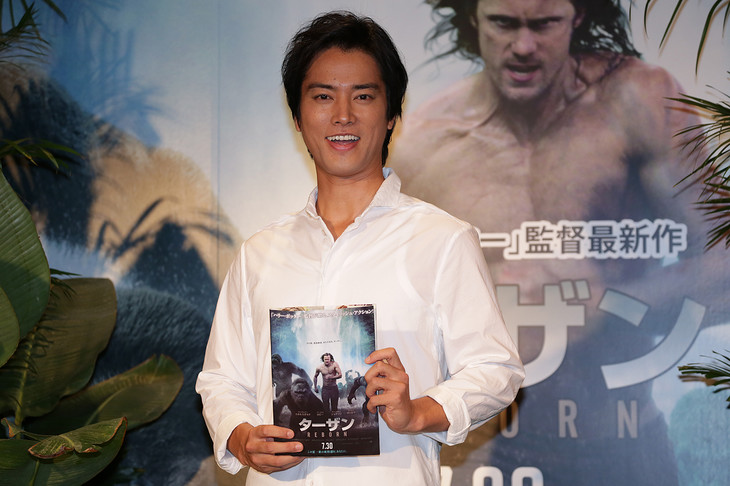 「ターザン:REBORN」公開アフレコに出席した桐谷健太。