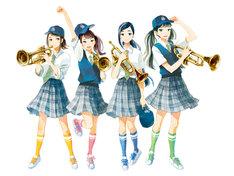 「青空エール」とコラボしたwhiteeeenの新ビジュアル。左から、meri、kana、hima、noa。